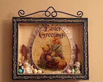 Easter Greetings Shadow Box