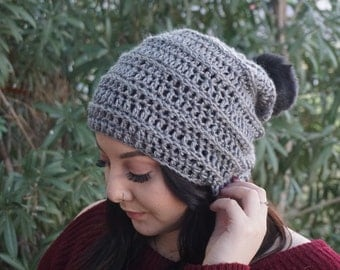 The Willow Beanie // Crochet Beanie // Ribbed Beanie