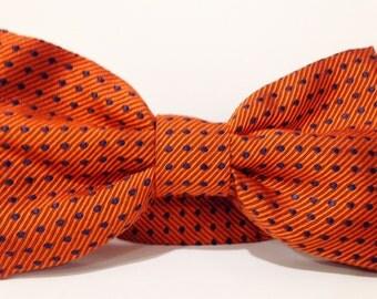 BOW TIE Mens Tie Necktie Mens Ties Orange Tie Brown Tie Blue Tie SILK