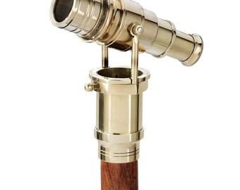 Brass Walking Stick with Telescope. on Sale!!