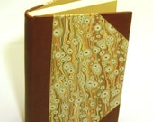 Half Bound Leather Binding, Blank hand bound journal