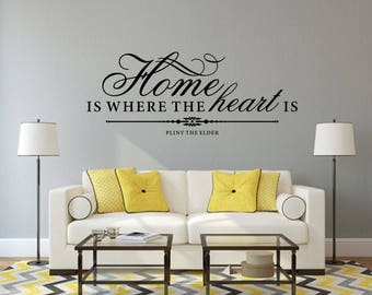 Home Is Where The Heart Is Home and Family Vinyl Wall Quote