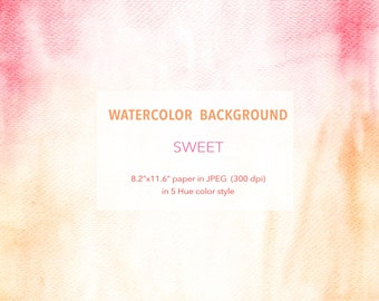 """Watercolor Background - Sweet - 8.2"""" x 11.6"""" printable, free commercial use , Abstract Watercolour digital texture paper instant download"""