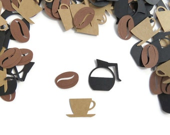 Coffee Lover Confetti, Table Scatter Birthday Party, Set of Approx. 200