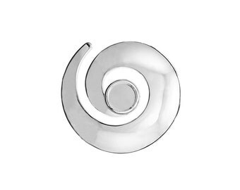 Silver Plated Swirl Pendant available with 10mm or 12mm Cup