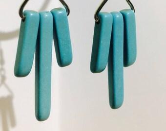 Triple Turquoise Earrings