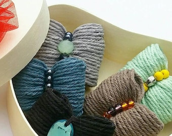 Dog hair bow - COZY COTTON - unique dog bow (pet hair accesories, dog hair accesories, puppy hair clips) *gift for little dogs *pet style