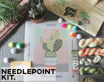 Creative Needlepoint Kit - Cactus - Bon Bon Stitch