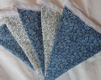 Blue Floral Bunting