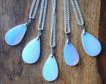 Moonstone Teardrop Pendants
