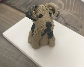 Polymer Clay Rescue Mutt