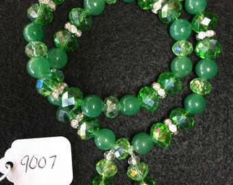 Green Aventurine Wraparound Bracelet (Medium)