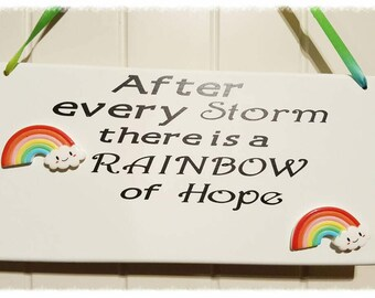 Rainbow Baby Wall Plaque