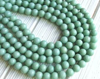 8mm Sea green Jade, full strand, candy jade, Mashan jade, 8mm beads, mountain beads, gemstone beads, round stone beads, jewelry supplies