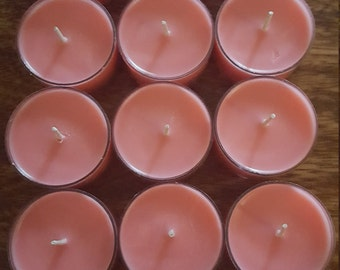 Set of 12 Love Spell Scented tealights//all natural soy tealights