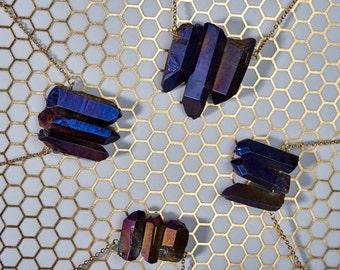 Purple Titanium Quartz Necklaces