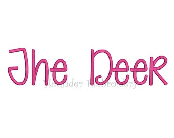 The Deer Embroidery Font 4 Size Embroidery Designs Fonts INSTANT DOWNLOAD