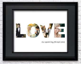 Digital File-Valentine's Day photo collage-Custom Photo Collage-Photo collage gift-Photo collage-Family photo collage-Love photo collage