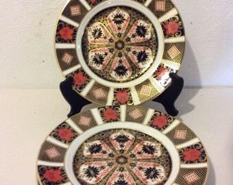 Royal Crown Derby-Old Imari Pattern 6 Salad Plates