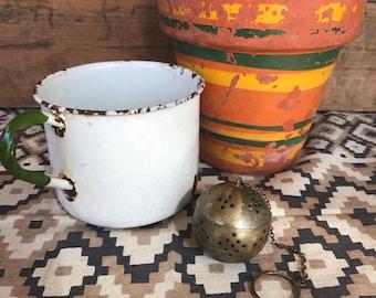 Vintage Tea Egg, Antique Tea Strainer