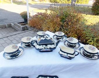Rare Crown Ducal breakfast/dessert/coffee 21 piece set