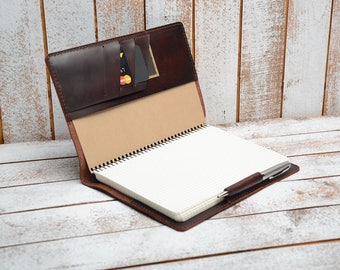 groomsmen gift Leather Cover,  A5  Notepad Cover, Journal Cover, Notebook cover,Leather journal cover,  A5 leather journal, leather planner
