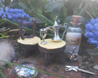 Fairy Queen Banquet table  and chair includes Goblet  Jug, Crown and Fairy Dust
