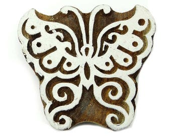 indian simple design wooden blocks butterfly design textiles printing blocks wooden handmade blocks