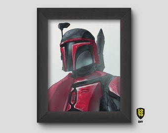 Mandalorian Obi Wan Kenobi Star Wars digital illustration by Alexander Fechner
