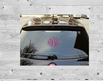Vinyl Monogram Etsy - Monogrammed custom vinyl decals for car