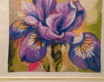 сross-stitch flower Iris