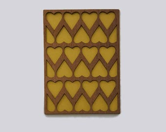 Wooden card with heart