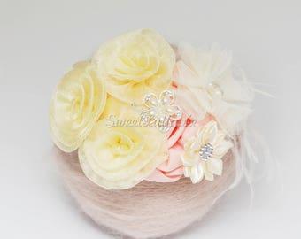 Baby flower headband, Baby Headbands, flower headband, toddler headband, infant headband, kids headband birthday headband princess crown RTS