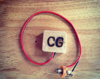 Pre-Wired Cigar Box Guitar Piezo Acoustic Pickup 36MM