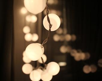 50 White Lights Fairy Lights Christmas Lights Bedroom Decor Wedding String Lights Plastic Balls Cafe Lights