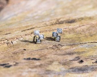 Infinity Cube Earrings Triple