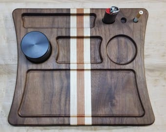 Walnut, Cherry and Maple Rolling Tray / Dab Tray