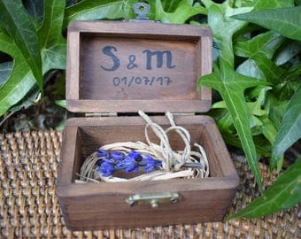 Rustic box for alliances - last days to 5 euro