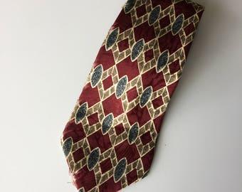 Retro Medici Pure Silk 60s Pattern Mens Tie