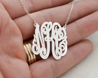 Hand Made Initials Monogram Necklace