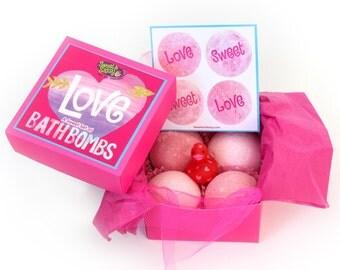 Bath Bombs for Girls, Kids, Teens:  Love, Sweet, Love!