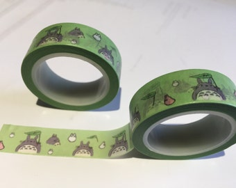 Totoro Japanese Washi tape - Decorative sticky craft roll .