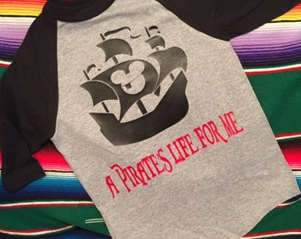 Custom Disney Cruise shirt - Disney Shirt- Add a name for FREE - Pirate Mickey Shirt- A Pirates life for Me