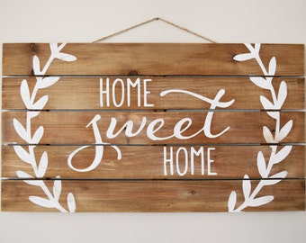 SPRING SALE* Home Sweet Home Rustic Wood Paneled Sign