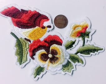 Ad/bird/flowers/free shipping iron on patch /embroidery appliques