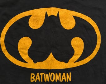 Vintage Batwoman shirt-Batman-Gotham city-superhero