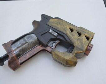 Image is loading Custom-Painted-Nerf-Gun-CosplayWeapon-Steampunk-Mega