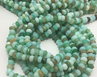 "Peruvian Opal Faceted Rondelle 5 To 5.5 mm 13""/Semi Precious Beads/Gemstone Beads/Peruvian Opal/Faceted Beads/Rondelle Beads/Classy Beads"
