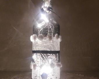 Black and White bottle lamp
