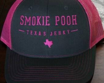 Smokie Pooh Texas Jerky Caps /Trucker/Hats/Gear/Caps/Cool/Women/Jerky/Beef/Texas/Pink/Men/fishing/hunting/climbing/outdoors